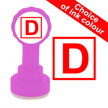Teacher Stamps | D for Distinction Pass Grade - Teacher Marking School Stamps