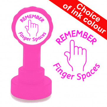 Teacher Stamps | REMEMBER Finger Spaces. Quality Xclamations School  Stamps