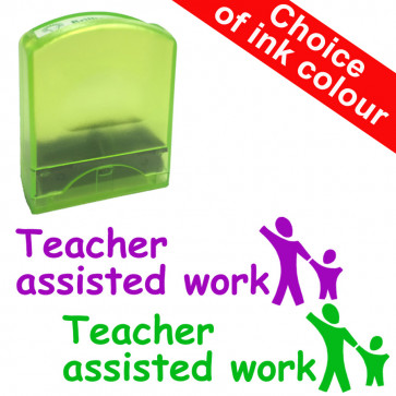Teacher Stamps   Teacher assisted work (Stocked in purple ink and green ink)