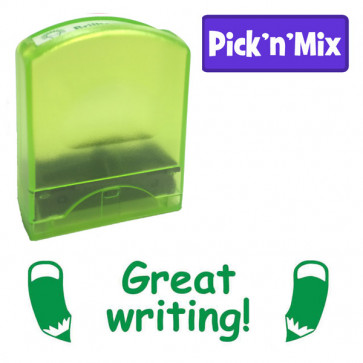 Teacher Stamps | Great writing! Literacy praise self-inking stamp.
