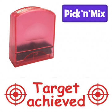 Teacher Stamps | Target achieved, Red ink, School Stamp