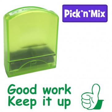 School Stamps | Green ink, Good work, Keep it up, Teacher Praise Stamp
