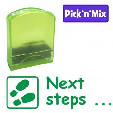 School stamps | Next steps... Teacher Stamp.