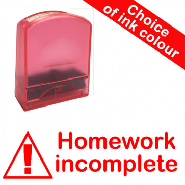Teacher Stamps |Homework incomplete Value Range.