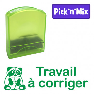 Teacher Stamps | Travail à corriger. Self-inking. Reinkable Value Range