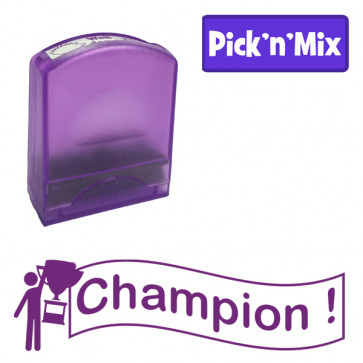 Teacher Stamps | Champion ! Self-inking. Reinkable Value Range