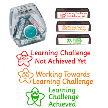 Teacher Stamps | Learning Challenge - Achieved, Working Towards, Not Met Ye
