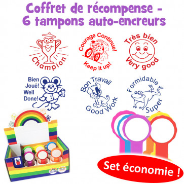 School Stamps | French Teacher Motivation Stamp Box Set