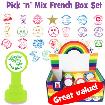 School Stamps | French Teacher Stamp Pick 'n Mix Boxset