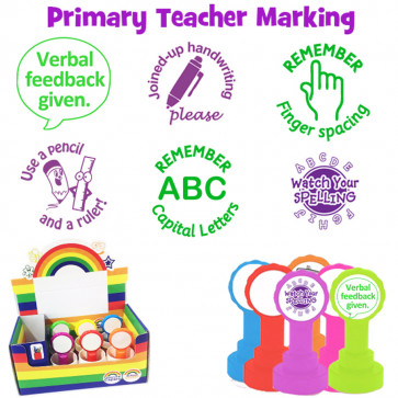 School Stamps | Primary Teacher Marking Stamps, Value Boxset