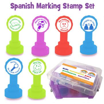 Spanish Marking Teacher Stamp Box Set