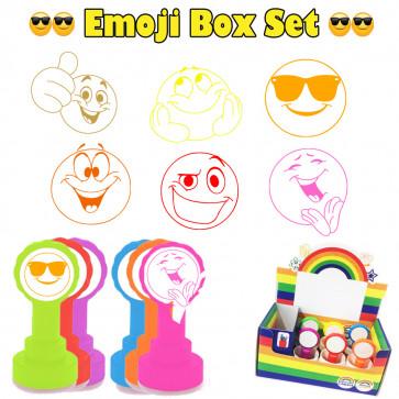 Teacher Stamps   Box Set of 6 Emoji Design School Stamps