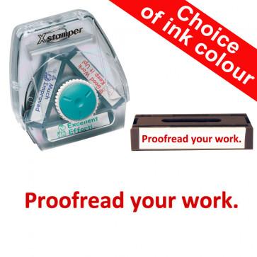 School Stamps | Proofread your work. Xstamper 3-in-1 Twist Stamp