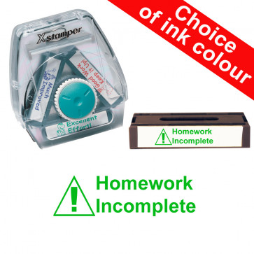 School Stamps | Homework Incomplete k Xstamper 3-in-1 Twist Stamp