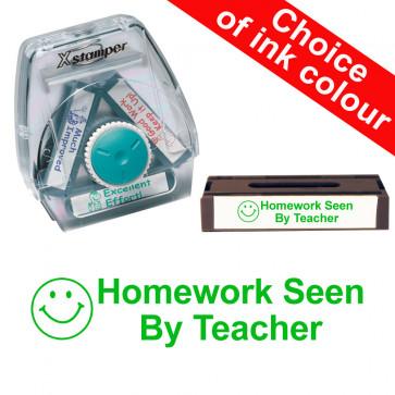 School Stamps | Homework Seen By Teacher Xstamper 3-in-1 Twist Stamp