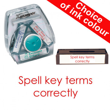 School Stamps   Spell key terms correctly Xstamper 3-in-1 Twist Stamp