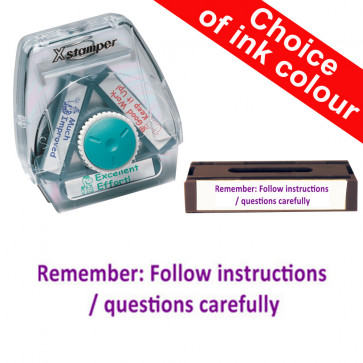 School Stamps | Remember to follow instructions/questions carefully Xstamper 3-in-1 Twist Stamp