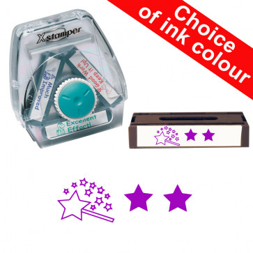 School Stamps | Two Stars and a Wish, Self-Assessment. Xstamper 3-in-1 Twist Stamp.