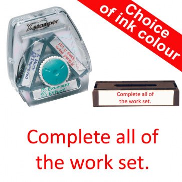 School Stamps | Complete all of the work set. Xstamper 3-in-1 Twist Stamp.