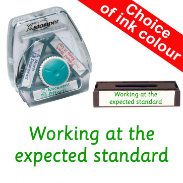 School Stamps | Working at the expected standard. Xstamper 3-in-1 Twist Stamp