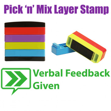 Teacher Stamps | Verbal feedback given Pick'n'Mix Stakz Layer Multi Stamp