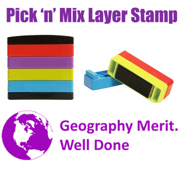 Teacher Stamps | Geography merit. Well done Pick'n'Mix Stakz Multi Stamp