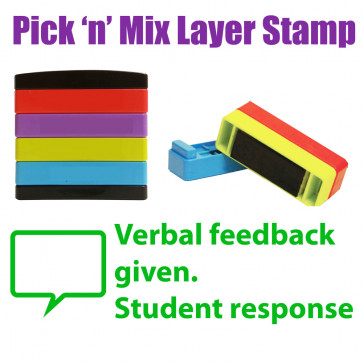 Teacher Stamps | Verbal feedback given. Student response Pick'n'Mix Stakz Multi Stamp