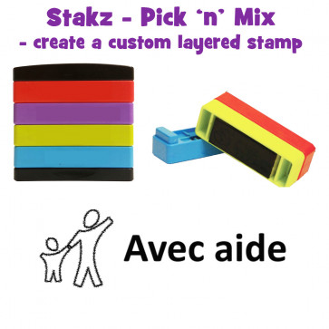 Teacher Stamps | Avec Aide Pick'n'Mix Stakz Layered French Multistamp