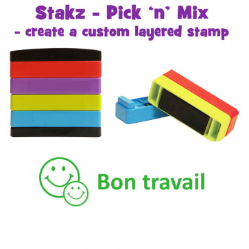 Teacher Stamps | Bon Travail Pick'n'Mix Stakz Layered French Multistamp.