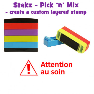 Teacher Stamps | Attention au soin Pick'n'Mix Stakz Layered French Multistamp