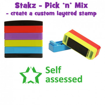 Teacher Stamps |Self assessed Pick'n'Mix Stakz Layer Multi Stamp