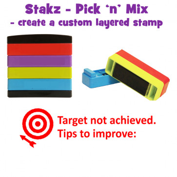 Teacher Stamps | Target not achieved. Tips to improve: Pick'n'Mix Stakz Layered Multistamp
