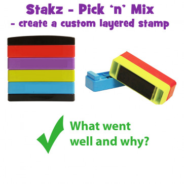 Teacher Stamps | What went well and why? Pick'n'Mix Stakz Layered Multistamp
