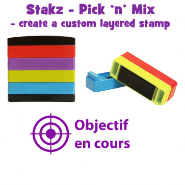 Teacher Stamps | Objectif en cours Pick'n'Mix Stakz Layered French Multistamp