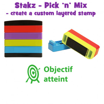 Teacher Stamps | Objectif atteint Pick'n'Mix Stakz Layered French Multistamp