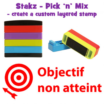 Teacher Stamps | Objectif non atteint Pick'n'Mix Stakz Layered French Multistamp