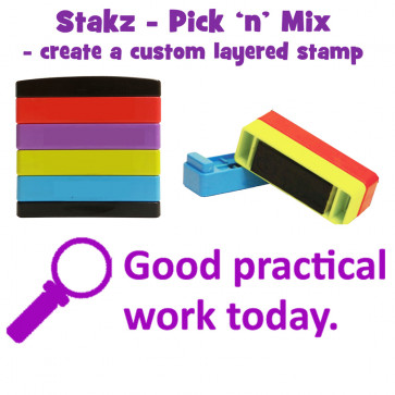 Teacher Stamps | Good practical work today. Pick'n'Mix Stakz Layered Multistamp