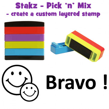 Teacher Stamps | Bravo Pick'n'Mix Stakz Layered French Multistamp