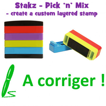 Teacher Stamps | A corriger ! Pick'n'Mix Stakz Layered French Multistamp.