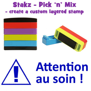 Teacher Stamps | Attention au soin ! Pick'n'Mix Stakz Layered French Multistamp