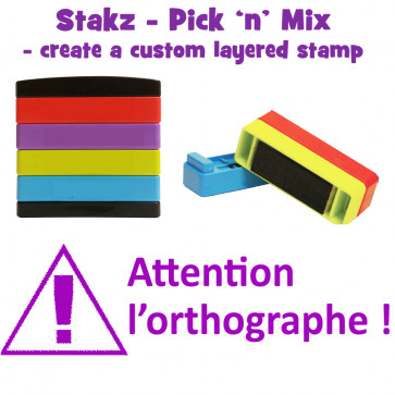 Teacher Stamps | Attention à I'orthographe ! Pick'n'Mix Stakz Layered French Multistamp.