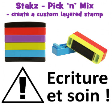 Teacher Stamps | Ecriture et soin ! Pick'n'Mix Stakz Layered French Multistamp