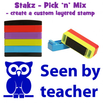Teacher Stamps | Seen by teacher Pick'n'Mix Stakz Layered Multistamp