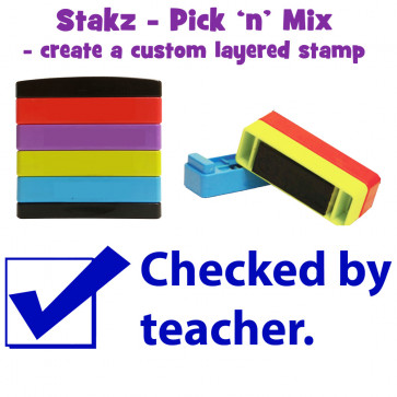 Teacher Stamps | Checked  by teacher Pick'n'Mix Stakz Layered Multistamp.