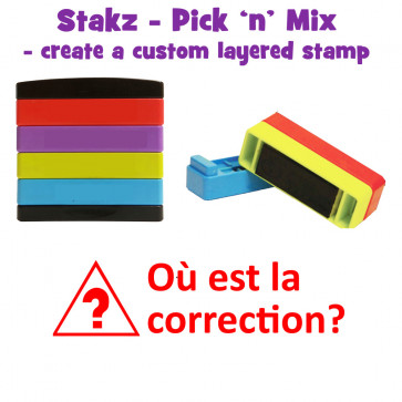 Teacher Stamps | Où est la correction ? Pick'n'Mix Stakz Layered French Multistamp