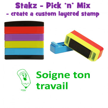 Teacher Stamps | Soigne ton travail Pick'n'Mix Stakz Layered French Multistamp
