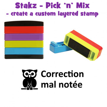 Teacher Stamps | Correction mal notée Pick'n'Mix Stakz Layered French Multistamp