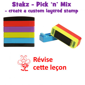 Teacher Stamps | Révise cette leçon Pick'n'Mix Stakz Layered French Multistamp