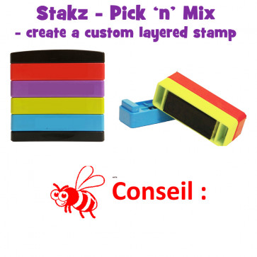 Teacher Stamps | Conseil: Pick'n'Mix Stakz Layered French Multistamp