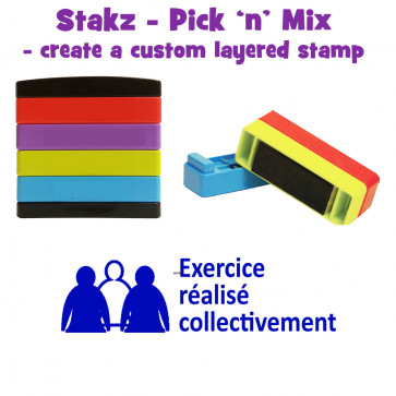 Teacher Stamps | Exercise réalisé collectivement Pick'n'Mix Stakz Layered French Multistamp